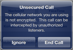 Unsecured Call iPhone iOS5