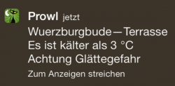 iPhone Prowl Notification von FHEM title