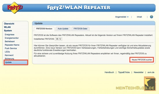 FirtzWLAN Repeater Update