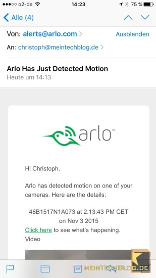 Arlo Notification