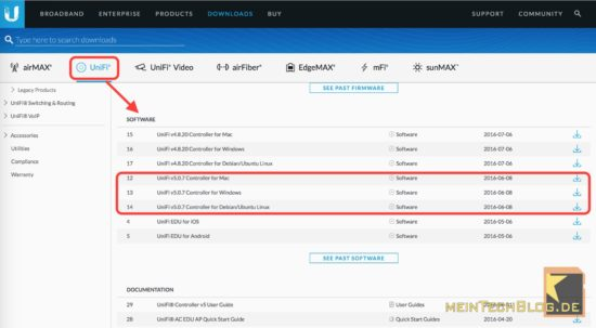 unifi-controller-downloadpage